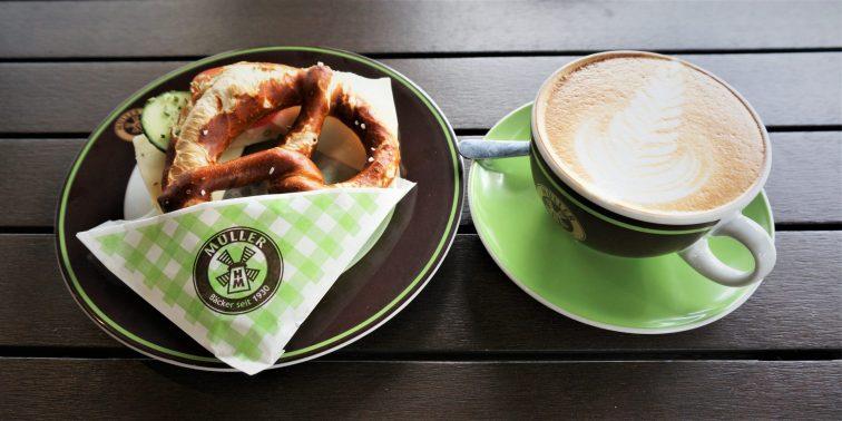 Great breakfast at Muller in downtown Garmisch