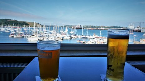 Pint with a view, in Falmouth