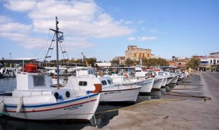 The waterfront at Aegina