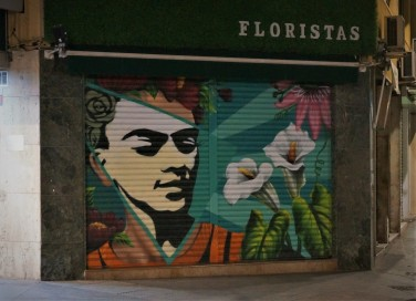 Florist's mural, Alicante
