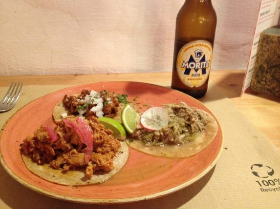Taco lunch at Tamarindo, Barcelona